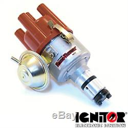 VW Aircooled Pertronix Vacuum Advance Distributor With Ignitor 1 Module 12 Volt